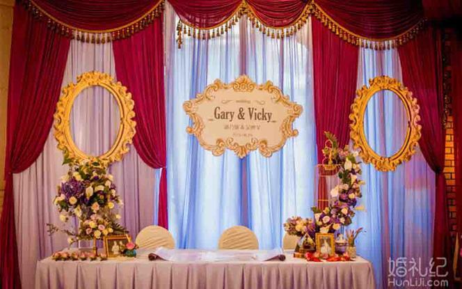 高端婚礼私人定制场地布置+即影即有无限张数打印