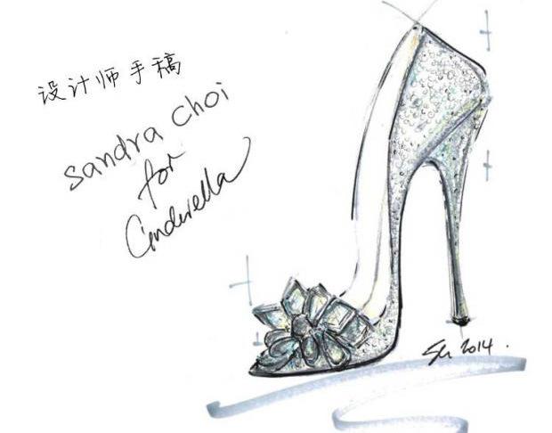 灰姑娘水晶鞋银色水钻婚鞋新娘鞋尖头高跟鞋细跟婚纱鞋17