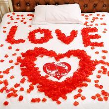 婚庆用品结婚礼场景婚房布置装饰仿真玫瑰花瓣 丝布玫瑰假花瓣
