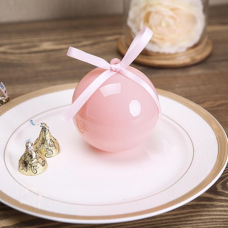 花半里喜糖盒粉色婚礼创意喜糖盒欧式风格圆球糖果盒