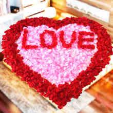仿真玫瑰假花瓣造型组合套餐婚床装饰求婚花瓣道具