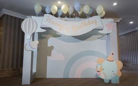小型 宝宝宴满月宴 party  蓝色大象