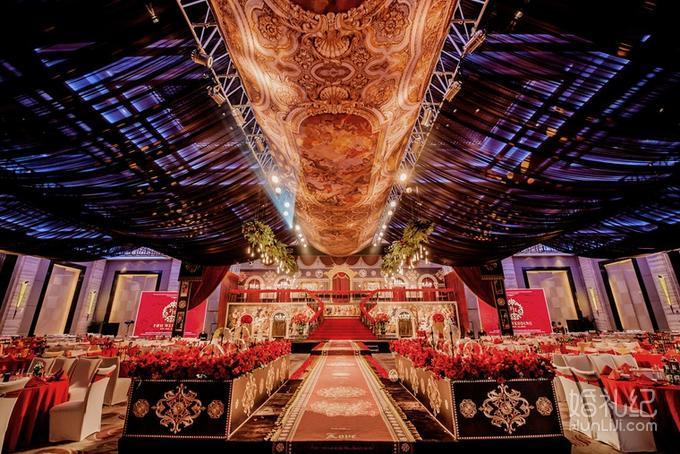 (爱悦婚礼)红金复古豪华大气欧式婚礼