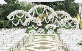 【爱茉莉婚礼】纯白色户外草坪婚礼
