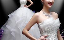 婚纱礼服新款春季新娘结婚抹胸修身齐地显瘦韩式春夏蓬蓬裙女