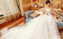 婚纱礼服夏季新款孕妇抹胸新娘结婚长拖尾大码显瘦梦幻公主女