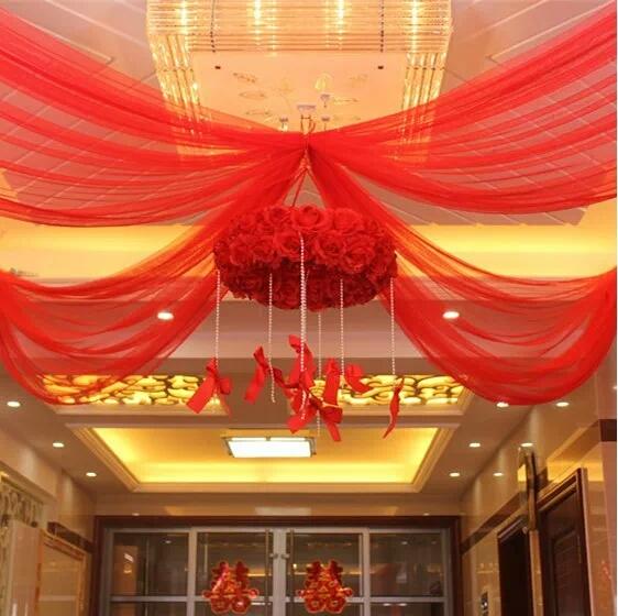 创意婚房布置花球 结婚装饰拉花 婚庆用品 客厅新房拉喜纱幔