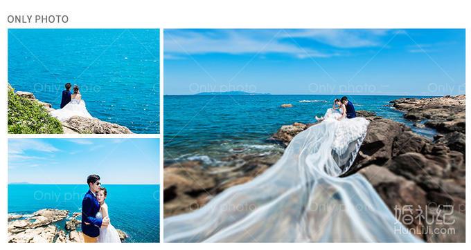 唯一视觉旅游婚纱摄影国内海南三亚拍摄海景结婚照蜜