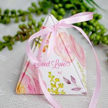 新品结婚婚庆用品婚礼三角喜糖盒子 创意纸盒欧式大小个性礼品盒