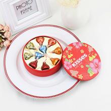 欧式婚礼欧式马口铁糖盒 好时巧克力6/10/16颗成品喜糖