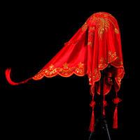 39包邮新娘结婚刺绣红盖头喜盖头纱喜帕蒙头巾婚庆中式盖头布