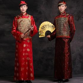 中式婚礼新郎结婚秀禾服男士礼服敬酒服男古装