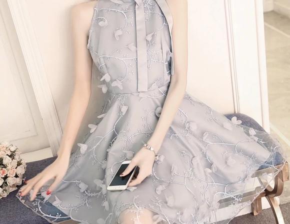 回门服甜美仙女气质系带蝴蝶结立体花朵复古刺绣A字蓬蓬公主