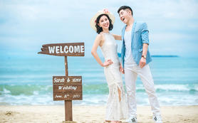 三亚曼迪国际婚纱摄影三美湾自然海景基地全任拍套系
