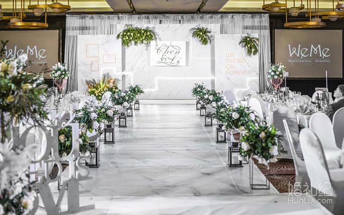 白绿色大理石的清新风婚礼婚庆套餐【婚礼纪】