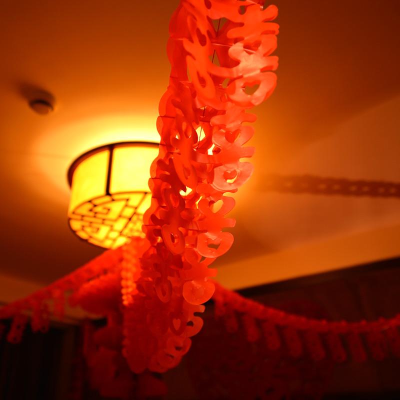 结婚婚庆用品婚房装饰花球灯笼拉喜新房布置喜字拉花