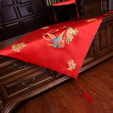中式复古红色流苏盖头大红色绣花盖头秀禾服盖头龙凤褂