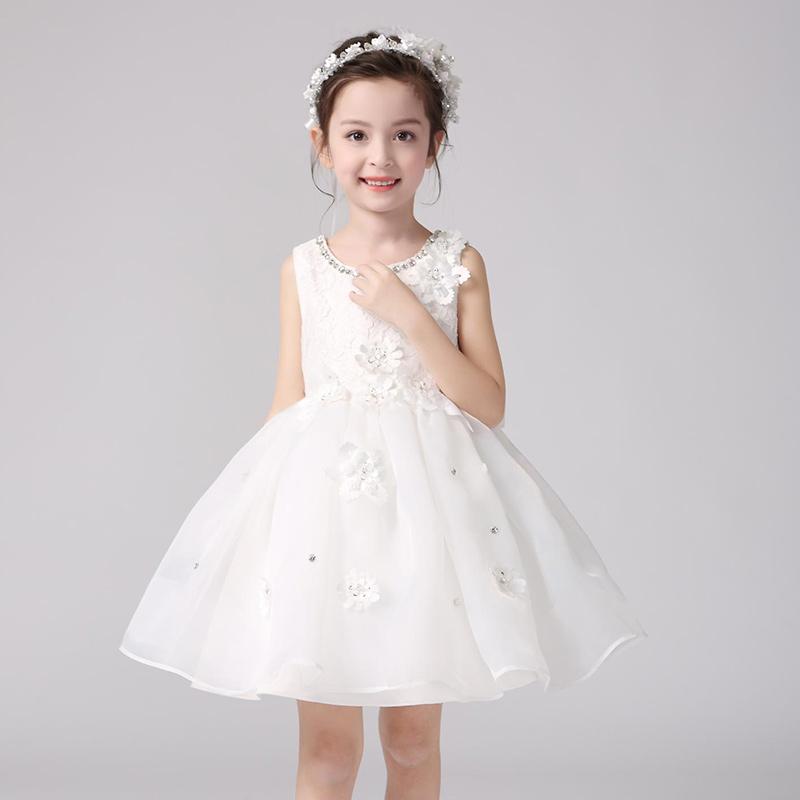 (送皇冠)夏季新款儿童公主裙花童婚纱蓬蓬裙