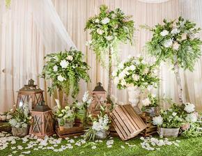 小清新婚礼风——西安铂斯特婚礼《moss green》