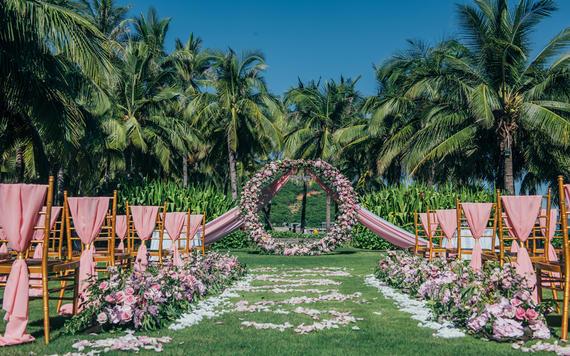 《粉玫瑰》安纳塔拉度假酒店草坪婚礼