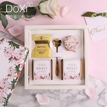 多囍优品欧式喜糖盒成品婚礼礼盒结婚满月伴娘回礼伴手礼玫瑰花海