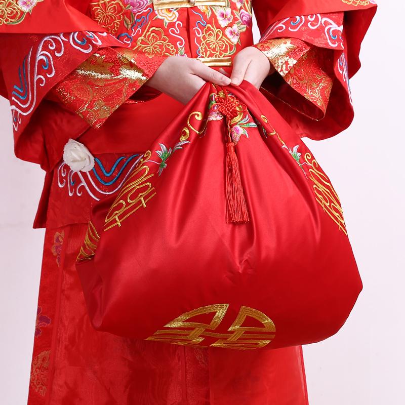 结婚创意新娘中式喜字红盖头婚礼嫁妆