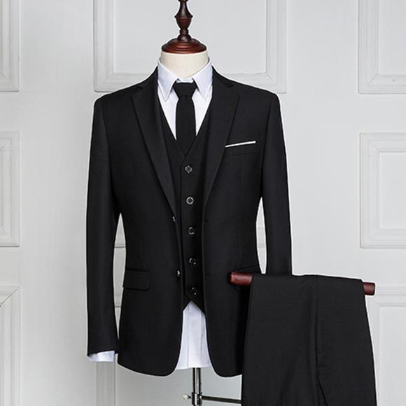 西服套装男士西装男修身 新郎结婚315
