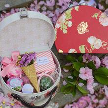 创意结婚商务成品多肉喜糖盒子欧式伴手礼小皮箱化妆箱礼盒订婚礼
