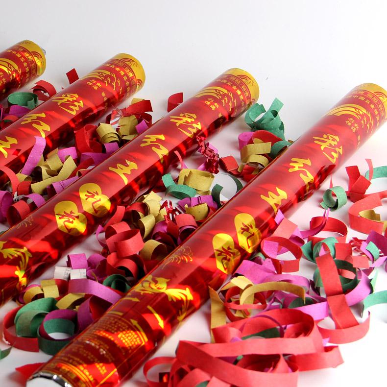 婚礼庆典开业 礼花筒礼宾花礼炮活动 拉炮彩带喷花
