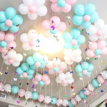 气球生日派对布置加厚圆形珠光吊坠气球2018博彩娱乐网址大全婚房装饰结婚用品包邮