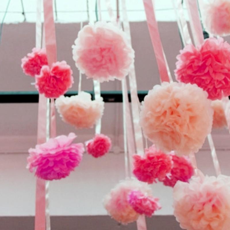 40个纸花球创意结婚求婚拉花婚房布置婚庆道具婚礼新房装饰用品