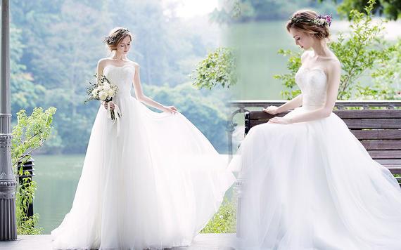 超值租赁瑞妮婚纱3件套婚纱晚礼服伴娘服租赁