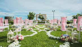 海岛超值温馨浪漫草坪婚礼