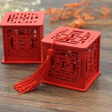 中国风木质创意糖盒 木糖盒 创意喜糖 盒 子