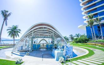 特色鮮花浪漫海島教堂婚禮