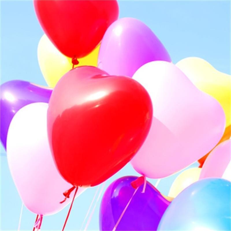 00 颜色 心形粉色100个气球 心形红色100个气球 心形紫色100个气球
