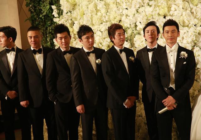 黑人范范结婚伴郎_黄晓明伴郎团名单明星婚礼伴郎大比拼【婚礼纪】