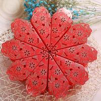 创意欧式蛋糕喜糖盒结婚庆用品婚礼三角糖果包装纸盒糖袋子