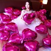 结婚表白求婚情人节婚房装饰布置创意10寸or18寸铝箔气球