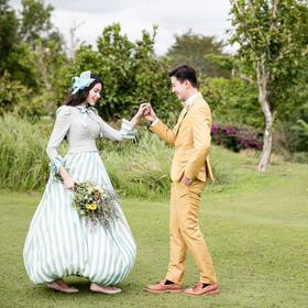 厦门户外草坪唯美小清新婚纱照欣赏