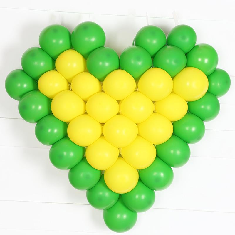 韩国进口心型网格 气球造型制作 60cm 可放入38个 心形