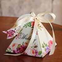 欧式婚礼森系糖盒婚庆用品结婚三角糖果盒子纸盒创意喜糖盒255