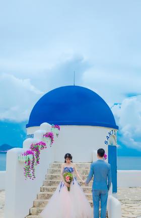 小东海时尚小清新海景婚纱照图片