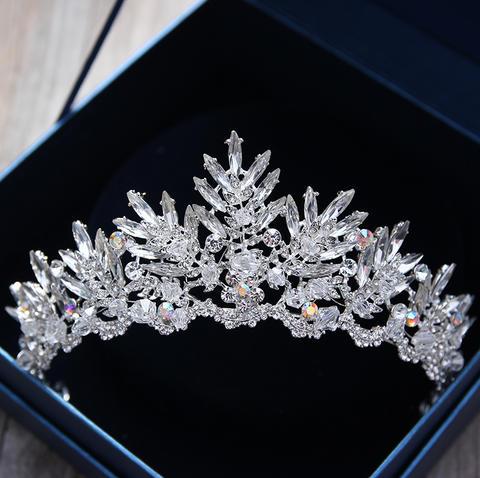 结婚用品 欧式头饰 >新款韩式新娘水晶皇冠巴洛克水钻头饰结婚礼公主