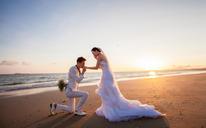 三亚时尚唯美海景婚纱照图片