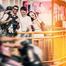 夏日文艺时尚街拍婚纱照图片