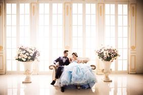 济南大气韩式唯美内景婚纱照