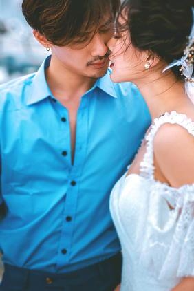 街拍组合前卫时尚婚纱照欣赏