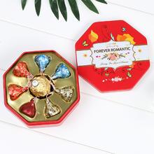 臻忆美欧式婚礼马口铁喜糖盒含糖结婚好时费列罗巧克力成品喜糖盒