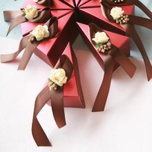 三角喜糖盒蛋糕盒  创意欧式包装盒